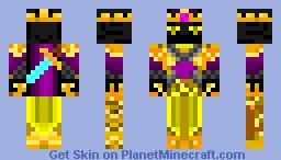 Golden Ender King (Skin Request Mfabus5351) Minecraft Skin