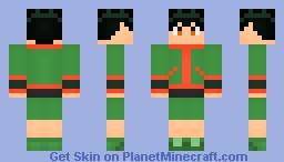 Gon Freecss [HunterXHunter] [Updated] [3DHair] Minecraft Skin
