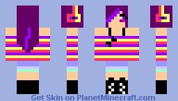 Grape Girl Minecraft Skin