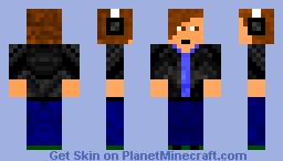 Greaser Boy w/ Headphones Minecraft Skin