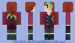 Green Highlights - Gurl skin Minecraft Skin
