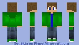 Green Hoodie V4 Minecraft Skin