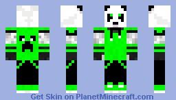 Green Panda Minecraft Skin