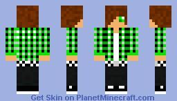 Green Teenager Minecraft Skin