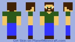 Bearded Greeneyes 2.0 Minecraft Skin