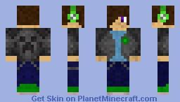 Teen In Grey Creeper Sweater ( first skin ) Minecraft