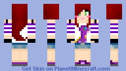 Girl with Dino Shirt (My own made dino shirt!!) Minecraft Skin