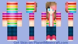 Gummy Rainbow - I had too... Minecraft Skin