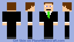 Guy in a Suit (Green) Minecraft Skin