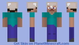 HD Steve /w Iron Helmet (Better in Preview) Minecraft Skin