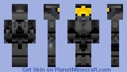 Halo 3 Spartan II with Black mark VI armor Minecraft Skin