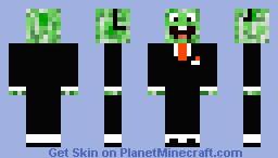 Creeper Agent Happy Minecraft Skin