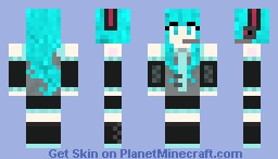 Hatsune Miku (requested) Minecraft Skin