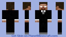 Herobrine in Business Suit Minecraft Skin