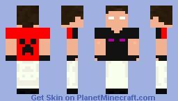 Herobrine Cursed Minecraft Skin
