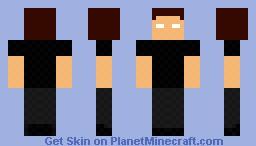 Herobrine (Fallen kindom parody) with hat in 3d Minecraft Skin