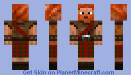 Highland Swordsman Minecraft Skin