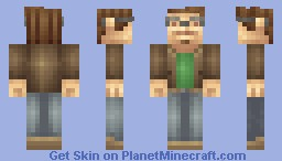 Hipster (Leostereo Inspired Shading) Minecraft Skin