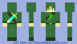 Wood elf (male, hooded) (Updated) Minecraft Skin