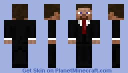 Steve with a suit Minecraft Skin