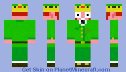 Crack Head Leprechaun With A Crown Minecraft Skin