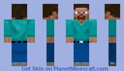 Improved Steve Skin ( Just shirt fixed, added belt ) Minecraft