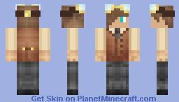 Steampunk inventor Minecraft Skin