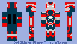 Iron Man 3 Suit (Blue) Minecraft Skin