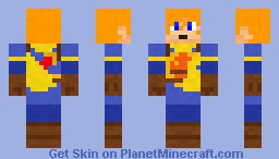 Isaac - Golden Sun (better in 3D) Minecraft Skin
