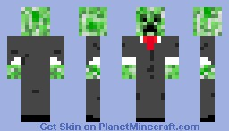 its a creeper in a suit Minecraft Skin