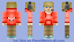 Me With A Pig Hoodie. Minecraft Skin