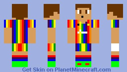 Rainbow FC Player Minecraft Skin