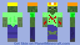 Zombie construction worker Skin Request from KillerMonkeyKid