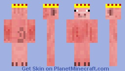 King Of Pigs Minecraft Skin