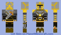 Knight Of Gold Minecraft Skin