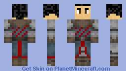 Knight with Black Hair Minecraft Skin
