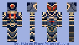 Red and blue Knight Minecraft Skin