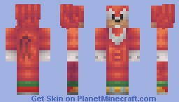 Knuckles Minecraft Skin