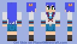 Konata Izumi Haruhi Cosplay Minecraft Skin