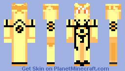 Naruto Bijuu Mode Minecraft Skin