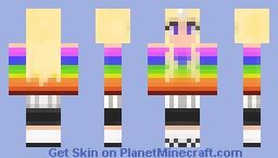 Lady Rainicorn (Adventure time + 3D horn) Minecraft Skin