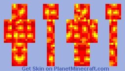 Lava man Minecraft Skin