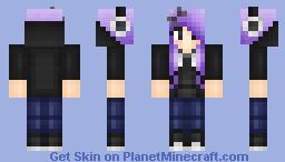 Purple & Black - Cut skin collection Minecraft Skin