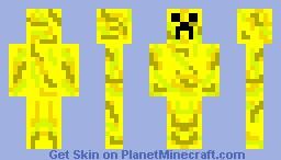 Lightning Creeper Minecraft Skin