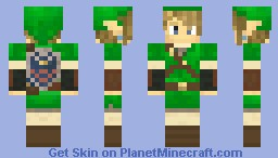 Link Green Tunic - Hylian Shield Minecraft Skin