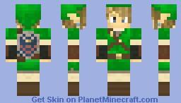 Link Green Tunic - Hylian Shield
