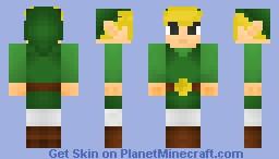 Link (Wind Waker) (3D Details) Minecraft Skin