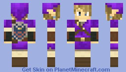 Link Purple Tunic - Hylian Shield Minecraft Skin