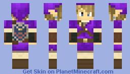 Link Purple Tunic - Hylian Shield