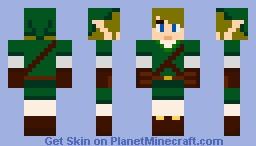 Link - Loz Minecraft Skin
